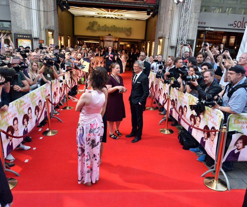 Europapremiere von Eleanor & Colette in derLichtburg Essen mit Helena Bonham Carter und Regisseur Bille August